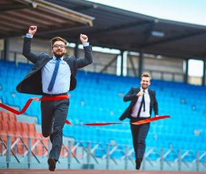 Running Businessmen